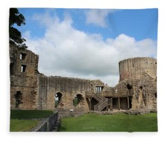 Castle Ruins Fleece Blanket