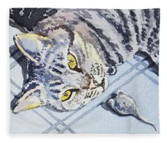 Cat Alert  Fleece Blanket