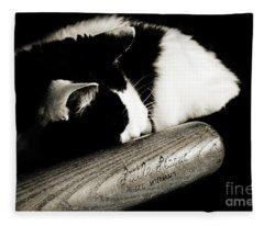 Cat And Bat Fleece Blanket