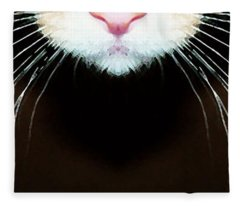 Cat Art - Super Whiskers Fleece Blanket