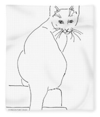 Cat-artwork-prints Fleece Blanket