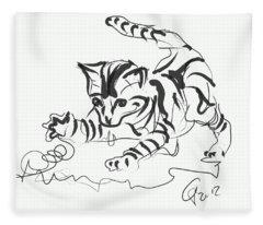 Cat- Cute Kitty  Fleece Blanket