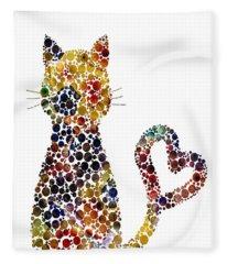 Cat Love Fleece Blanket