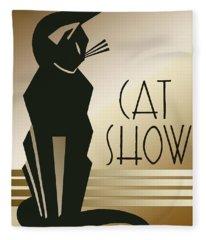 Cat Show  Fleece Blanket