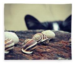 Cat Snails Fleece Blanket