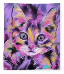 Cat Wild Thing Fleece Blanket