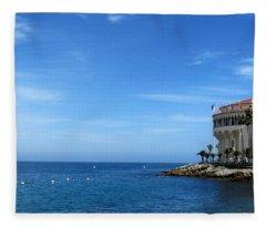 Catalina Island Casino Fleece Blanket