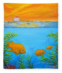 Catalina Island Cove Fleece Blanket