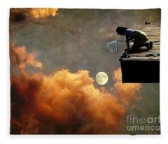 Catch The Moon Fleece Blanket