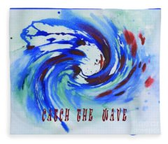 Catch The Wave Fleece Blanket