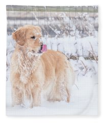 Catching Snowflakes Fleece Blanket