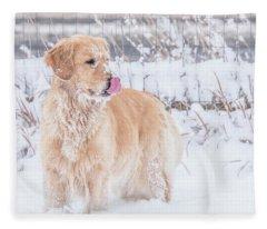 Catching Snowflakes Fleece Blanket