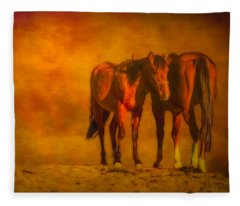 Catching The Last Sun Digital Painting Fleece Blanket