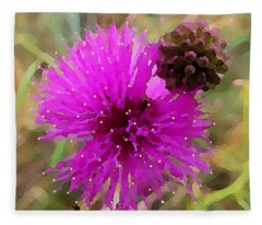 Catclaw Pink Mimosa  Fleece Blanket