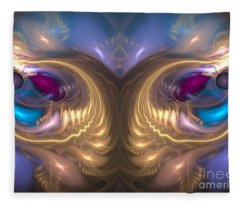Catharsis - Abstract Art Fleece Blanket