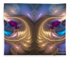 Catharsis - Abstract Art Fleece Blanket