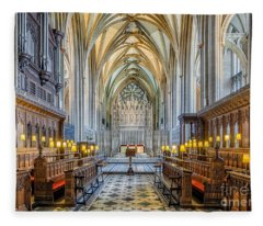 Cathedral Aisle Fleece Blanket