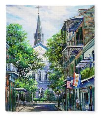 Cathedral At Orleans Fleece Blanket