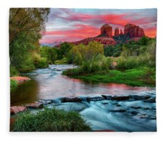 Cathedral At Sunset Fleece Blanket