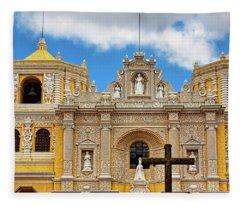 Cathedral In Antigua, Guatemala Fleece Blanket