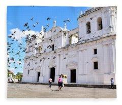 Cathedral Of Leon Fleece Blanket