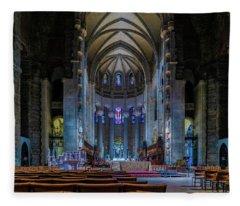 Cathedral Of Saint John The Divine Fleece Blanket