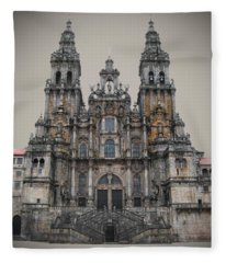 Cathedral Of Santiago De Compostela Fleece Blanket