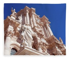 Cathedral Of Siracusa Fleece Blanket