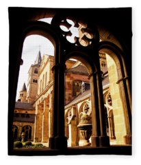 Cathedral Of Trier Window Fleece Blanket