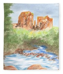 Cathedral Rock 2,  Sedona, Az. Fleece Blanket