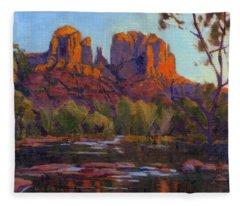 Cathedral Rock, Sedona Fleece Blanket