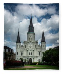 Cathedral With Clouds Fleece Blanket