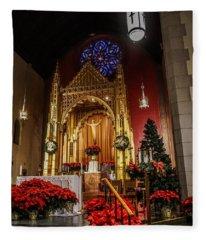 Catholic Christmas Fleece Blanket