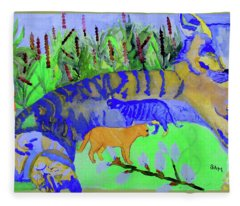 Cats And A Fiddle Fleece Blanket