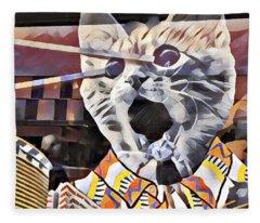 Cats On Congress Fleece Blanket