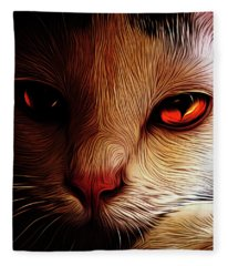 Cat's Secret Fleece Blanket