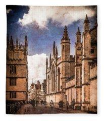Oxford, England - Catte Street Fleece Blanket