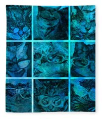 Cattitudes Fleece Blanket