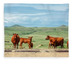 Cattle Guards Fleece Blanket