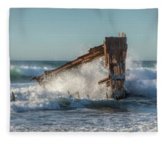 Caught In The Breakers 0702 Fleece Blanket