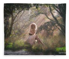 Caught In The Rays Of Light Fleece Blanket