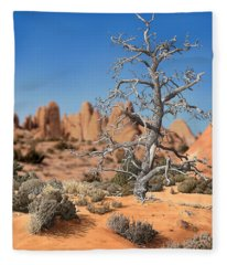 Caught In Your Dying Arms Fleece Blanket