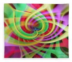Caught Up In A Colorful Swirl Fleece Blanket