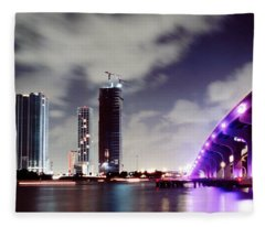Causeway Bridge Skyline Fleece Blanket