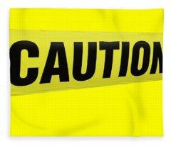 Caution Tape Fleece Blanket
