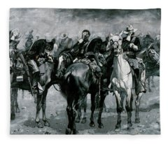 Cavalry In An Arizona Sand-storm Fleece Blanket
