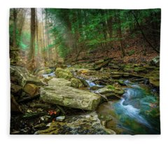 Cave Branch #9 Fleece Blanket