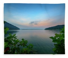 Cave Run Morning Fleece Blanket