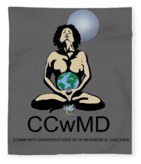 Ccwmd Logo Tshirt Ready Fleece Blanket