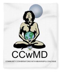 Ccwmd Logo White Background Fleece Blanket